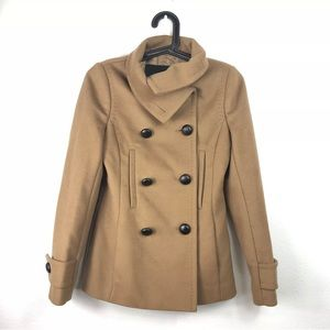 Aritzia T Babaton Tan Howell Wool Cashmere Coat